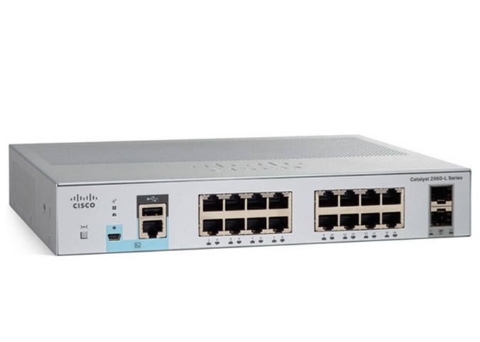 Commutateur WS-C2960L-16TS-LL de port du catalyseur 2960L Gigabit Ethernet 16 de Cisco