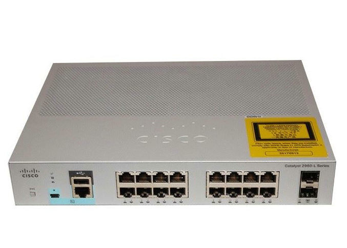 Cisco Catalyst 2960L Gigabit Ethernet 16 Port Switch WS-C2960L-16TS-LL